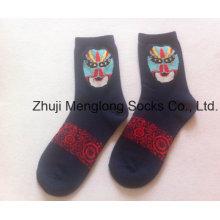 Máscara de lujo buena calidad señora calcetines con Facial patrón