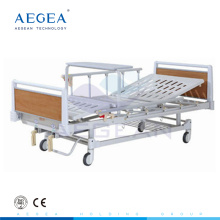wooden frame patient manual crank two function hospital cheap medical bed