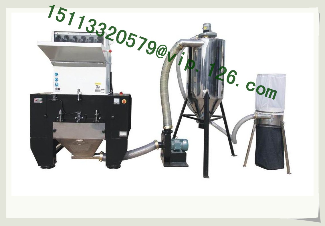 Plastic crushing and powder sifting system