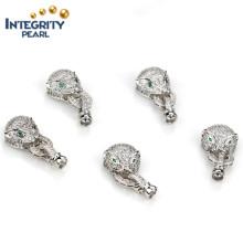 Jóias Fechamento fino Fivela de jóias de pérolas Fechamento de jóias com jóias em ouro