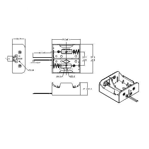 2 PIECES D Battery Holders BBA-D-2-150-A