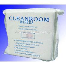 """Limpiador de microfibra de sala blanca de 9 """"x9"""" del fabricante y toallitas de limpieza 100% de poliéster para uso industrial"""