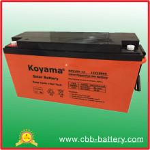 Batería solar de la granja del gel del ciclo profundo de la fábrica 150ah 12V de China