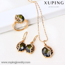 61418-Xuping Fashion Woman Jewlery engastado con oro de 18 quilates plateado