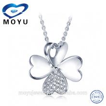 Cadena cristalina al por mayor del collar de los colgantes de la plata esterlina de la joyería 925 de las mujeres