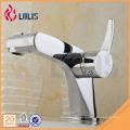 Durable chrome single lever washbasin faucet bathroom