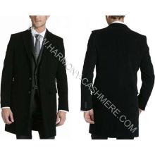 Abrigo largo de invierno de cachemir para hombres