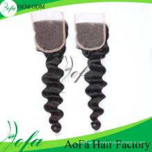 Unverarbeitetes indisches Haar 7A / Jungfrau-Haar- / Menschenhaar-Perücke / Lcae-Verschluss-Perücke