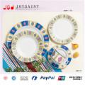 Sistemas simples al por mayor de la cena de la forma redonda del diseño en Dishware de la porcelana