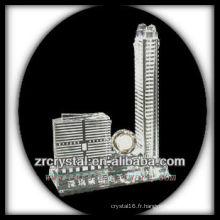 Magnifique modèle de bâtiment en cristal H046