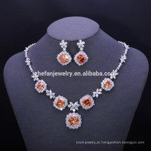 Jóias de natal bijuterias france latão colar de corrente grande conjuntos de jóias para o casamento moda acessórios estoque