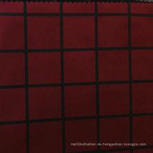 Plaid Print Wildleder Stoff für Kleidungsstück