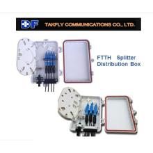 com divisor 4 cabos de caixa de fibra óptica