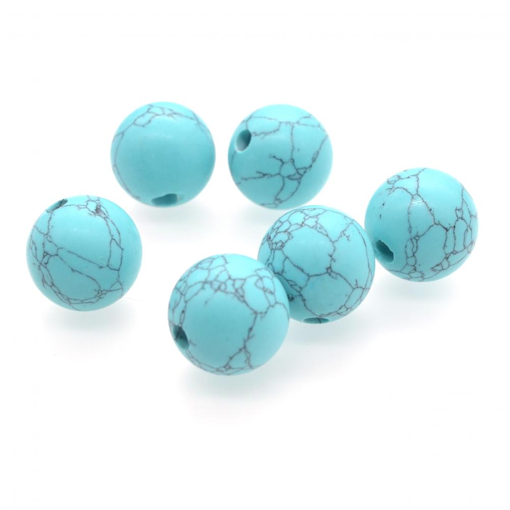 18MM Natural Semi Precious Stone Round Beads Large Hole