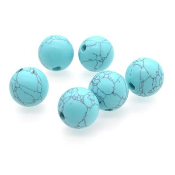 Large Turquoise 18MM Round Beads for DIY Jewelry