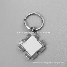 Alibaba Wholesale Metal sublimation blanks keychain