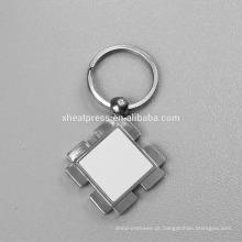 Alibaba Atacado Metal sublimação em branco chaveiro