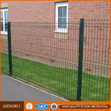 Heißes Verkaufs-Pulver oder PVC überzogener galvanisierter geschweißter Maschendraht-Zaun