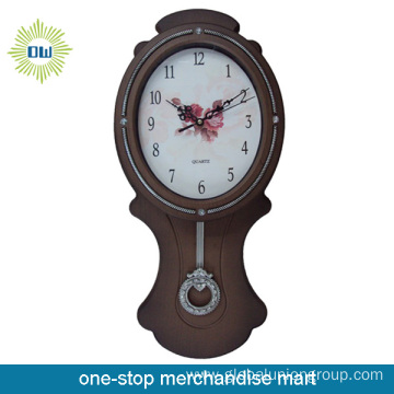 Simple Antique Decorative Rotating Pendulum Wall Clocks