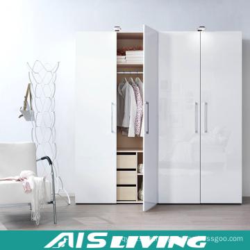 Apartment Project Schlafzimmer Kleiderschrank ausziehbare Tür Design (AIS-W486)