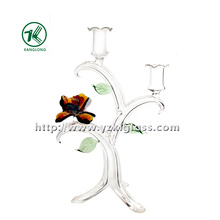 Glass Candle Holder for Holiday Decoration (22*14*34)
