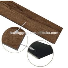 Piso de chapado en vinilo de lujo chapa de suelo clic en PVC