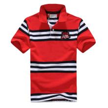 T-shirt en coton à rayures en fils de coton pour homme