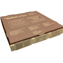 Eco Friendly Triangular Kraft Paper Pizza Box