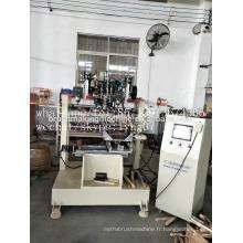 Bobine CNC 4 axes de brosse métallique 2 forage et 1 machine à touffeter