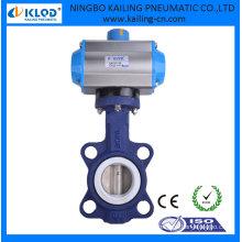 Válvula de borboleta com atuador de ar pneumático rotativo DN40 marca KLQD