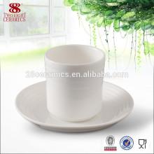 Soucoupe de tasse blanche de thé en gros de porcelaine en céramique pour le restaurant