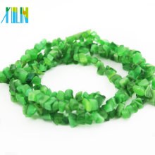 Venta al por mayor Piedras preciosas semi preciosas Chips Green StoneBeads