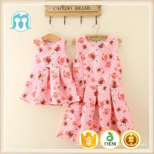 Venta caliente del bebé respirable más el tamaño vestido de dama de moda para mujeres ropa cóctel de una pieza vestido de mujer Floral vestidos impresos