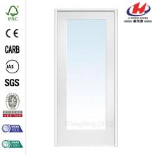 30 in. X 80 in. Vidrio Clásico Transparente 1-Lite Composite Prehung Interior French Door