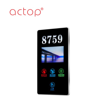 Hotel Electronic Doorplate door plate Touch Dzwonek z numerem LED Numer pokoju