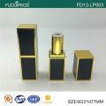 luxury square matte gold cosmetic lipstick tube