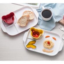Меламин 3-разбита тарелка/детские (CC882) /посуда