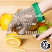 Luva de malha de arame de aço inoxidável para processamento de ostra Garment Garment