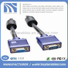Varón del VGA de 6FT SVGA al cable de extensión femenino para el monitor de la PC Proyectores TV