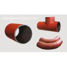 Alumina ceramic abrasive lined pipe