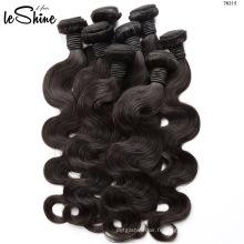Haute qualité cheveux humains armure vendeur gros vague de corps vierge brésilienne faisceaux de cheveux