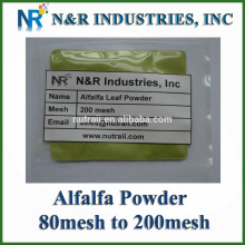 Pure Alfalfa Powder 80mesh to 200mesh without Dextrine