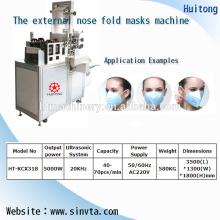masque pliant anti-poussière non tissé ultrasonique faisant la machine