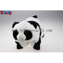 Plüsch gefüllte Kissen Nette Panda Form Karikatur Reise Kissen Kissen