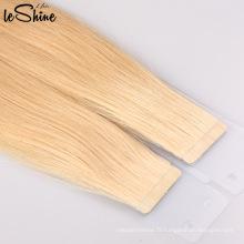Bande adhésive bon marché double extensions de cheveux en bande