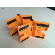 KC-MN01 Promotion customized column plastic post spirit level with magnetic