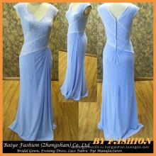 Вечернее платье шифон Русалка вечернее платье кружева платья ткани бай-14084