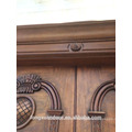 Rayon de porte en bois entrée de fer entrée principale porte double design