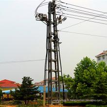 10 Kv Four-Poster Type Terminal Acier Pipe Power Transmission Tower