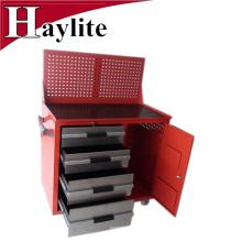 Banco de trabajo modular grande del almacenamiento del gabinete de la herramienta del metal de acero del garaje con el tablero de clavijas